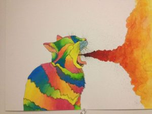 cat threw up